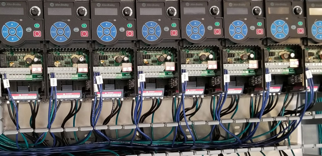 Custom UL 508A Panel with Allen Bradley VFDs