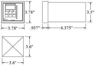 Dimensions of the Digi-Gage