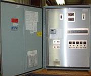 Wall mount panel with controls through inner door