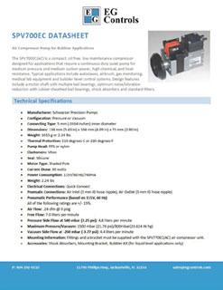 Data Sheet for the SPV700EC