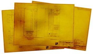 Original blue prints of Electrogage